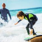 Curso de surf para niños