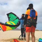 Video de Control de cometa en playa