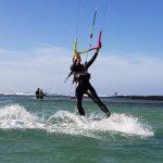 Kite session in Cotillo