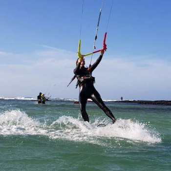 Kite surf en las lagunas de Cotillo