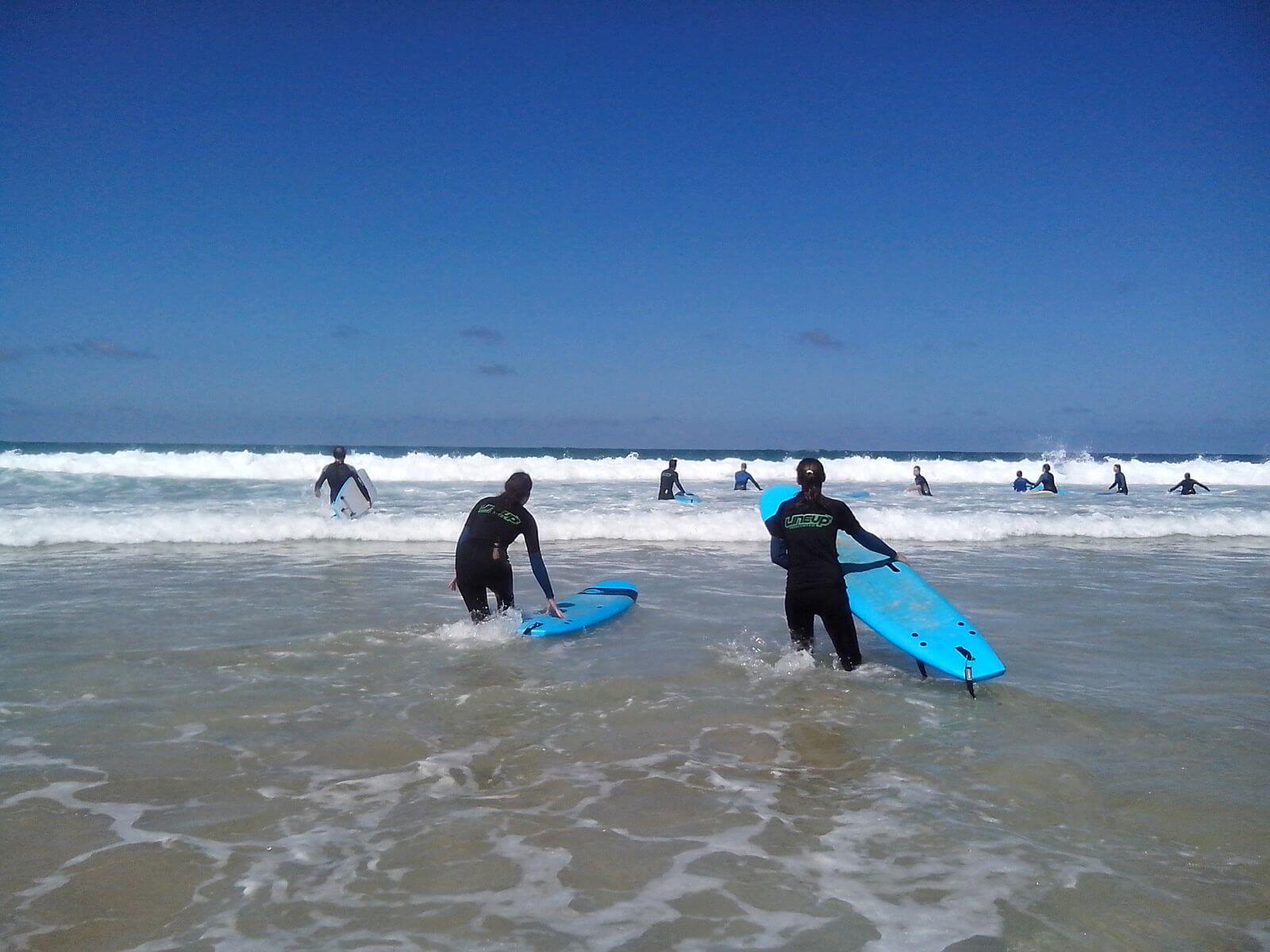surfers in fuerteventura