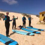 Surfing March in Fuerteventura