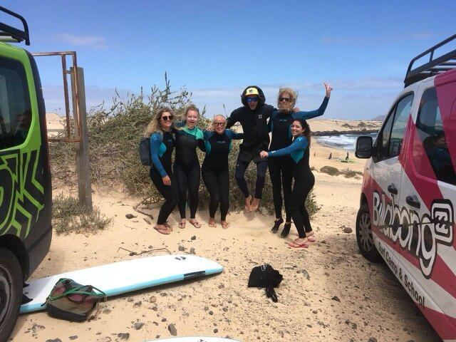 surfing in fuerteventura