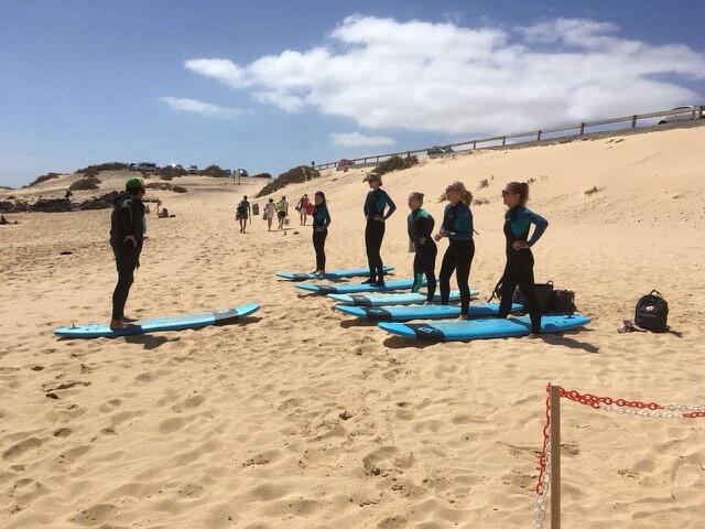 surfista en fuerteventura