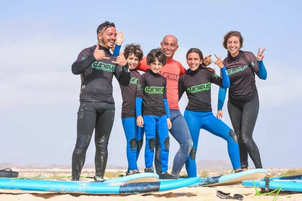 family surf camp in Fuerteventura