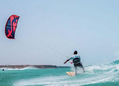 wave kitesurfing