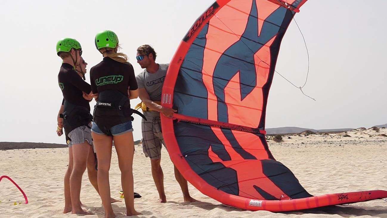 set up a kite