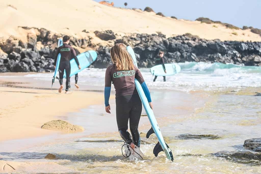surfers in corralejo