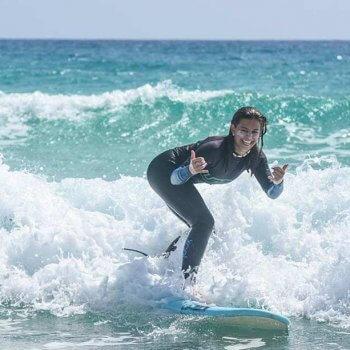 July at full surf in Fuerteventura