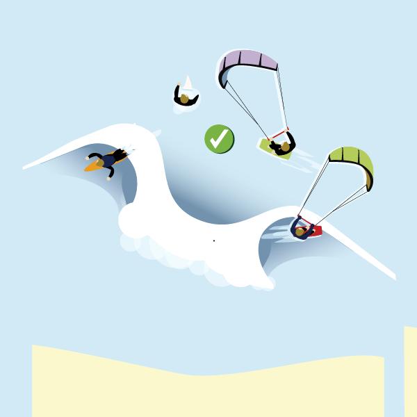 kiters vs surfers